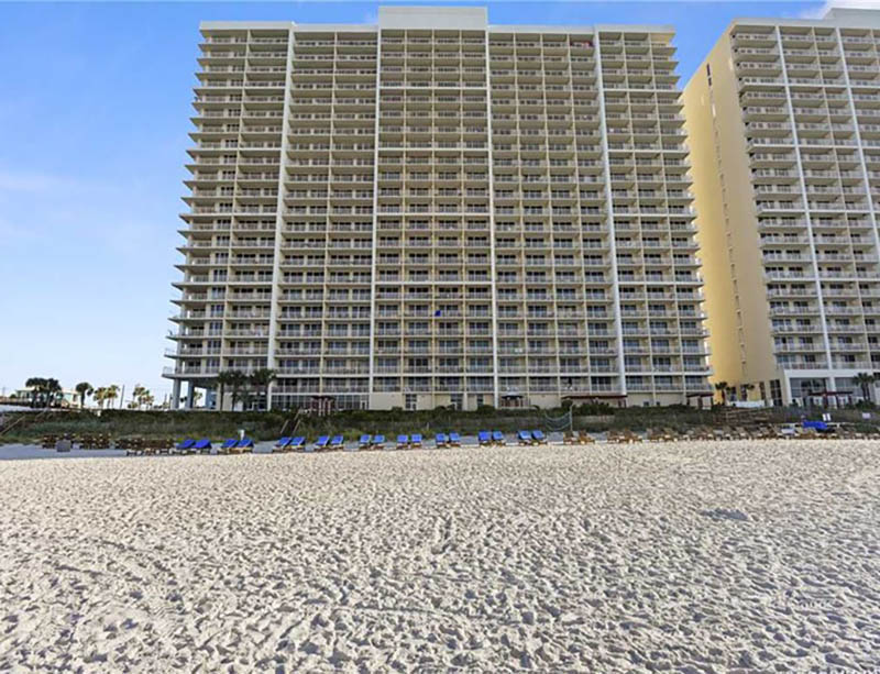 You will be directly beachfront at Majestic Beach Resort in Panama City Beach FL