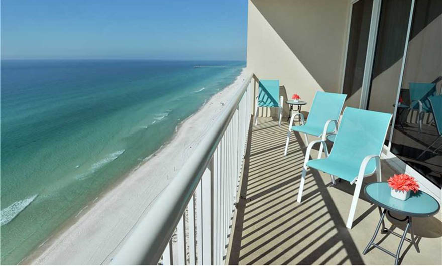 Fabulous view of the Gulf at Majestic Beach Resort in Panama City Beach FL