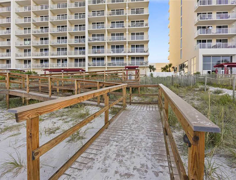 East access to the beach from Majestic Beach Resort in Panama City Beach FL