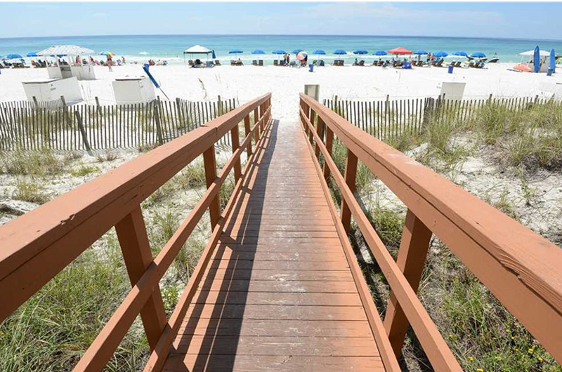Handy way to the white sand beach from Marisol in Panama City Beach Florida