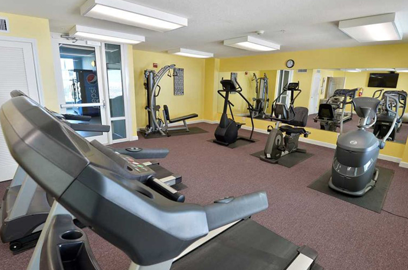 Get in shape in the gym at Marisol in Panama City Beach Florida