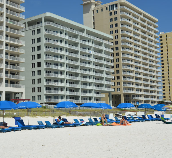 Beach front view of Marisol in Panama City Beach FL