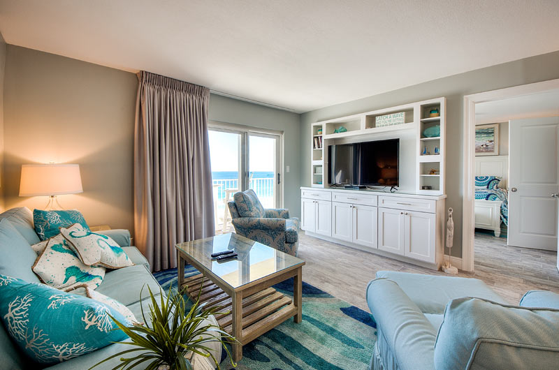 Living area at Moonspinner in Panama City Beach FL