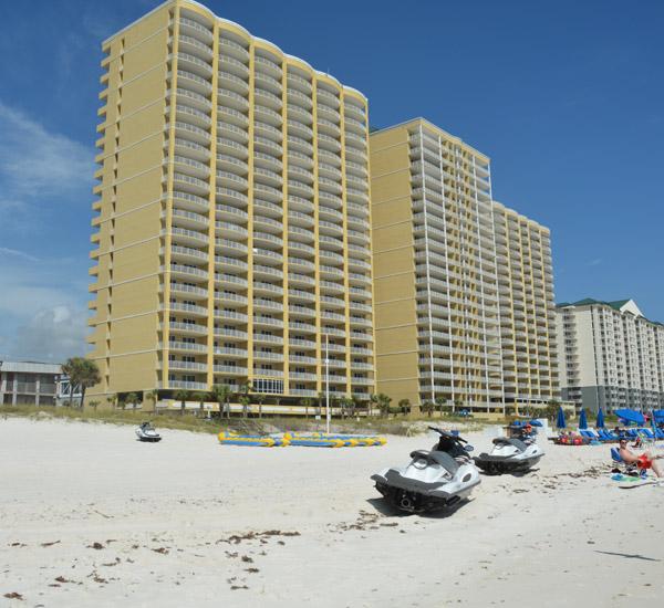 Beach front Ocean Ritz in Panama City Beach FL