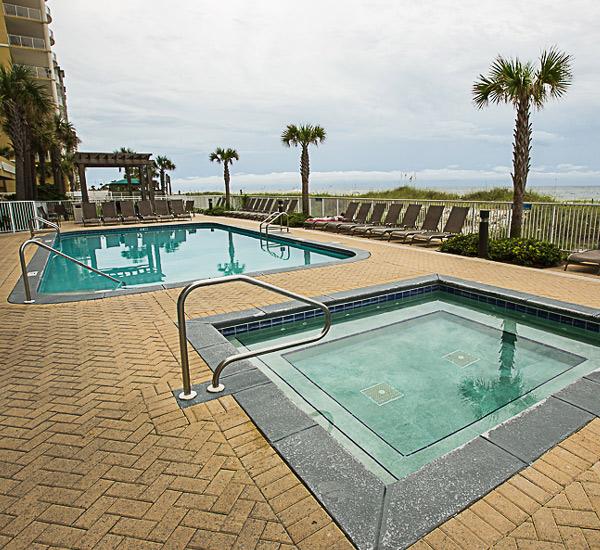Beachfront pool at Ocean Villa in Panama City Beach Florida