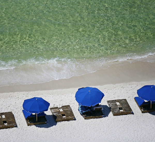 Beach service at Ocean Villa in Panama City Beach Florida