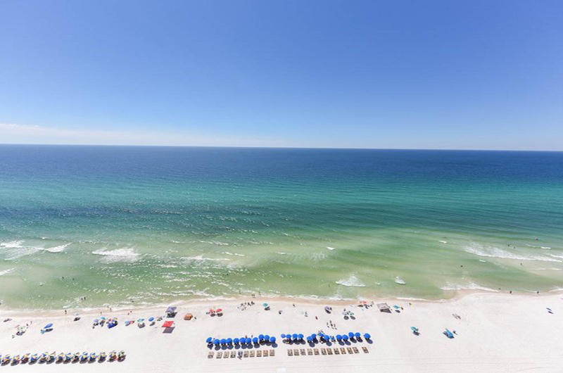 Wonderful Gulf view from Ocean Villa in Panama City Beach FL