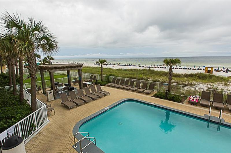 Lovely pool area at Ocean Villa in Panama City Beach FL