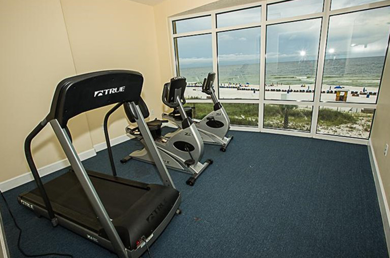 Nice gym for your workout at Ocean Villa in Panama City Beach FL