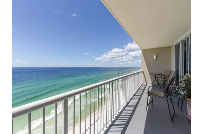 View the beach for miles from Palazzlo in Panama City Beach Florida