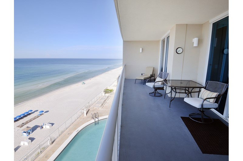 Relax on our balcony and enjoy amazing views from Palazzo in Panama City Beach Florida