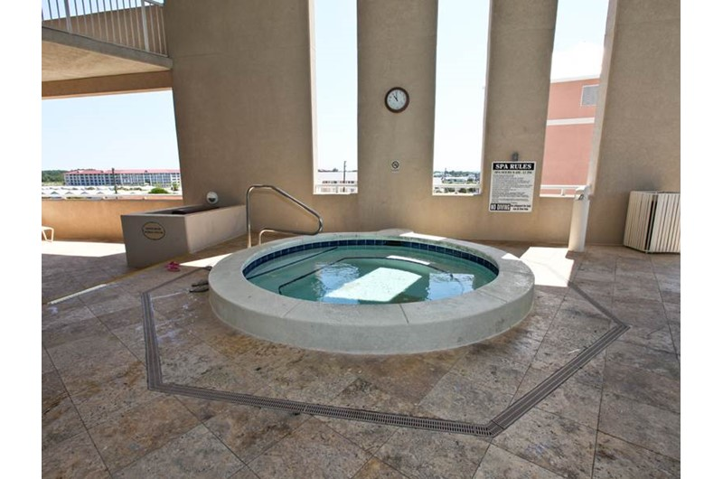 Soak your stress away in the hot tub at Palazzo in Panama City Beach Florida