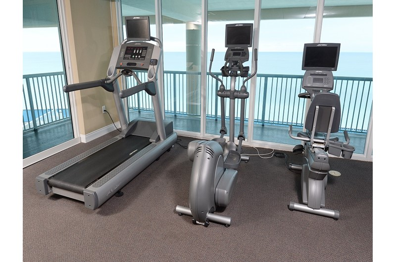 Get fit in the gym at Palazzo in Panama City Beach Florida