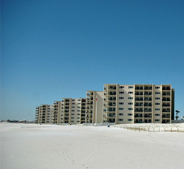 White-sand beaches on the Gulf side of Pinnacle Port