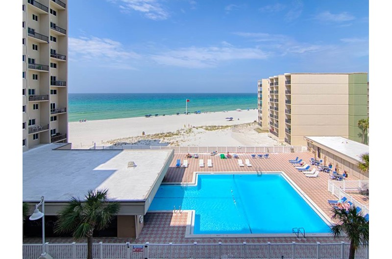 Nice view of the pool from Pinnacle Port in Panama City Beach Florida
