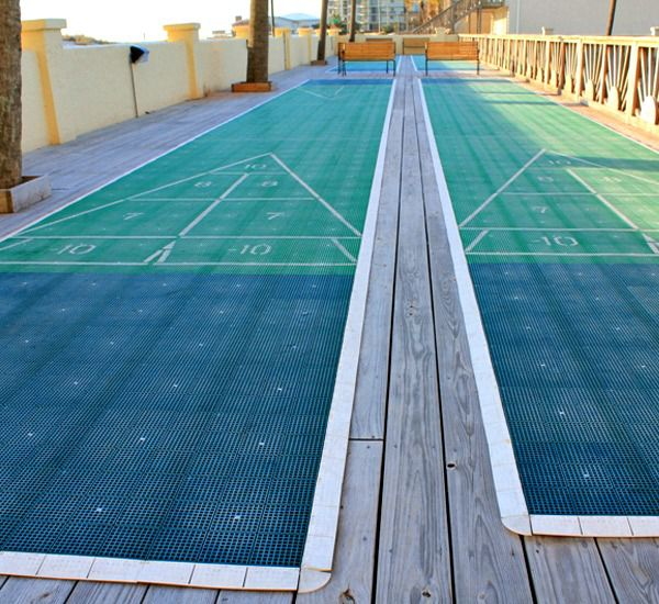 Grab the family and play a game of shuffleboard at Regency Towers in Panama City Beach Florida