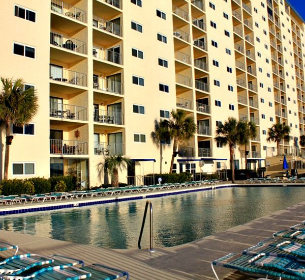 Regency Towers in Panama City Beach Florida has a huge pool for your enjoyment.