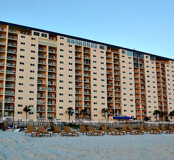 Walk out the condo right on to the sand from Regency Towers in Panama City Beach Florida