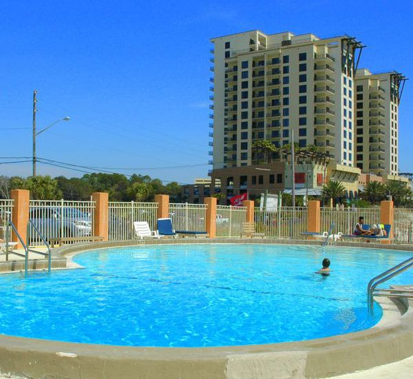 View of the pool at Seahaven Beach Hotel in Panama City Beach Florida