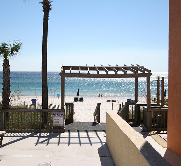 Beach access at Seahaven Beach Hotel in Panama City Beach Florida