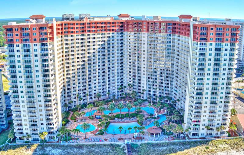 Ariel view of Shores of Panama Panama City Beach FL
