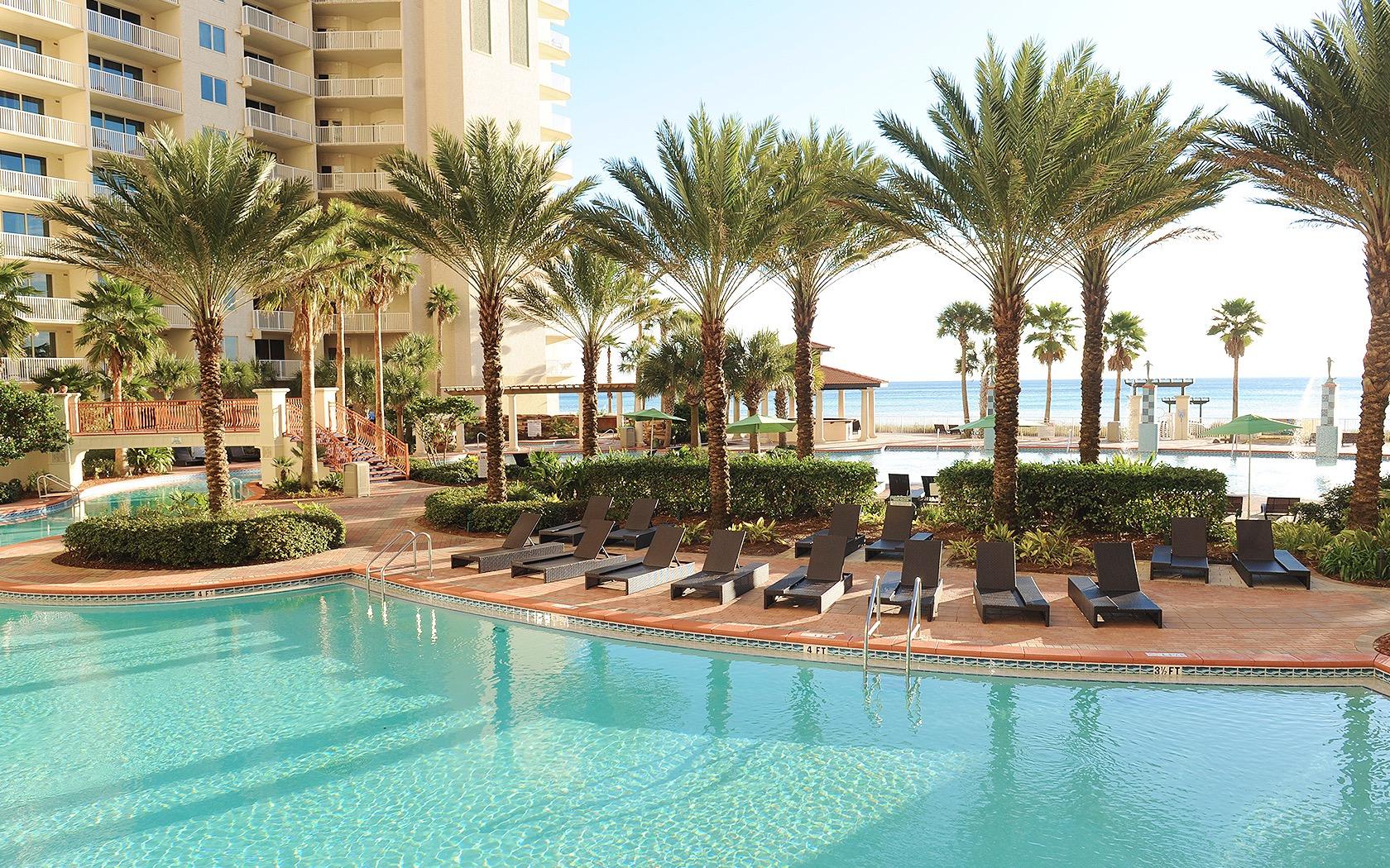Gorgeous pool area at Shores of Panama Panama City Beach FL