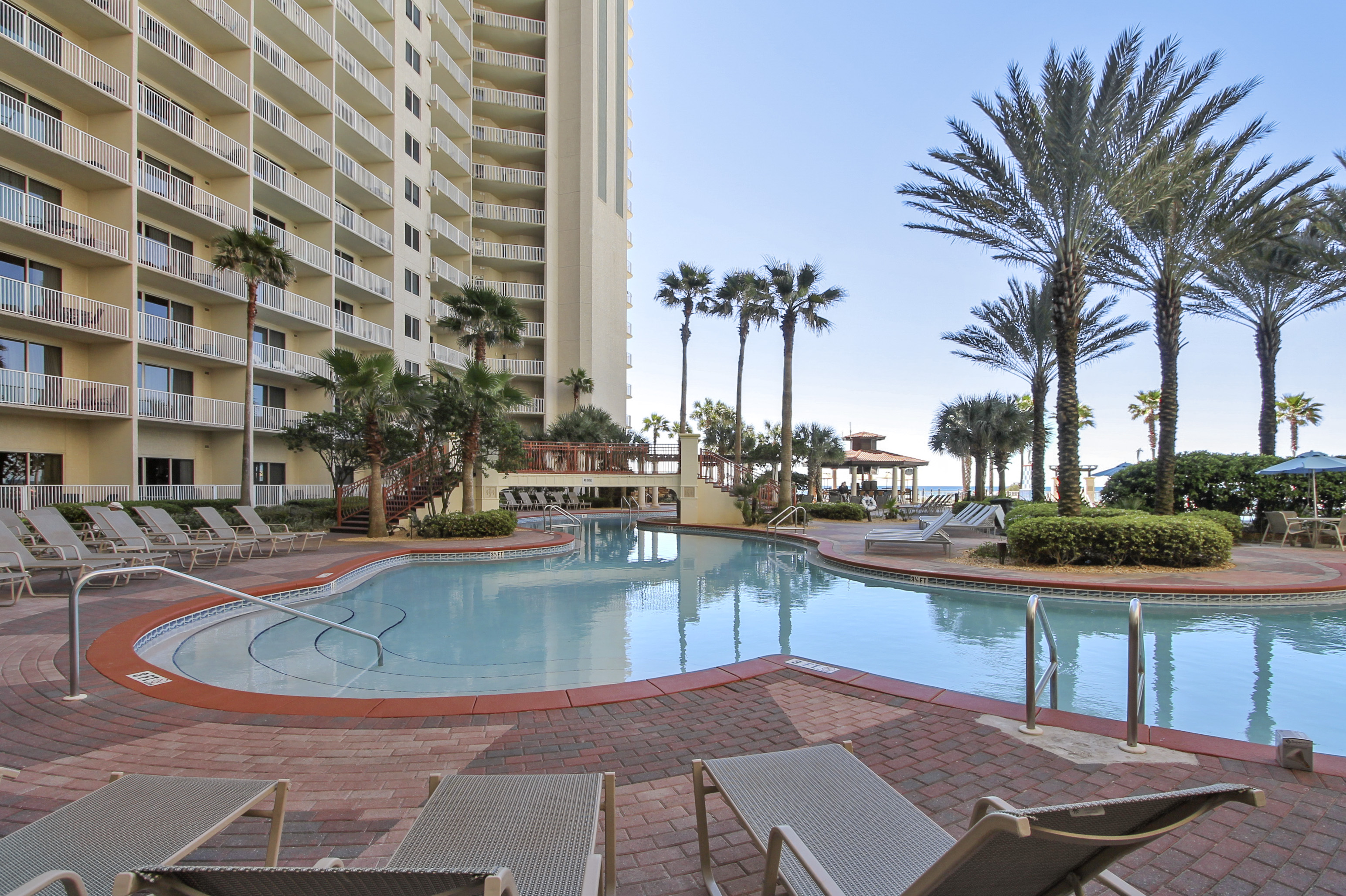 Plenty of room for everyone in this amazing pool at Shores of Panama Panama City Beach FL