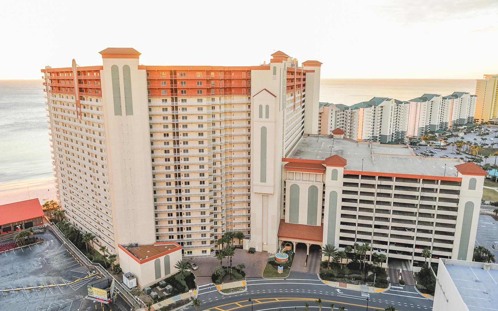 Shores of Panama Panama City Beach FL is directly on the Gulf of Mexico
