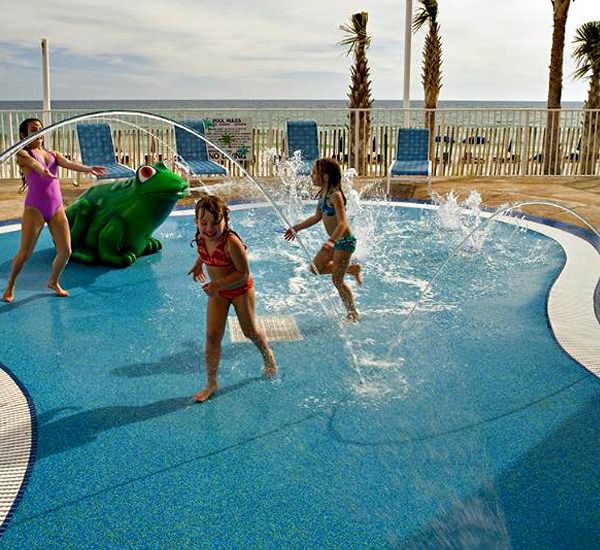 Let the kids run around  and cool offf at SPLASH!  in Panama City Beach Florida