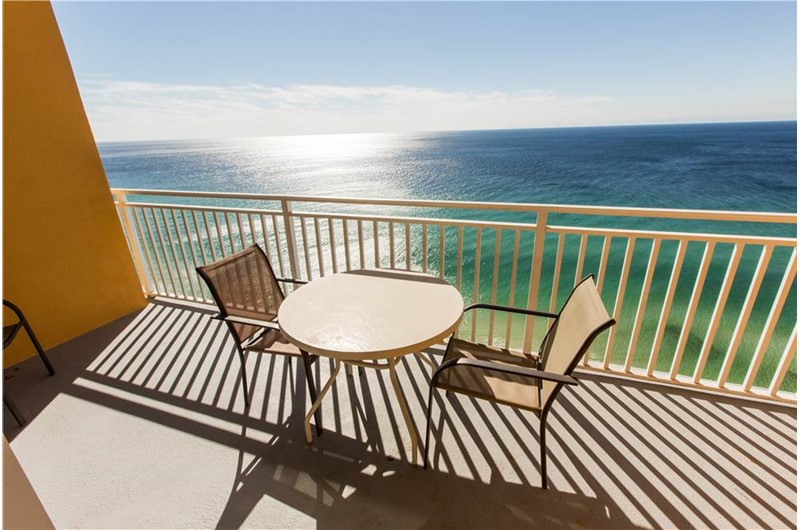 Gorgeous view from your balcony at Splash! in Panama City Beach Florida