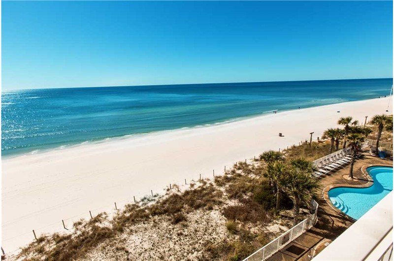 Pool and beach view from your balcony at Splash! in Panama City Beach Florida