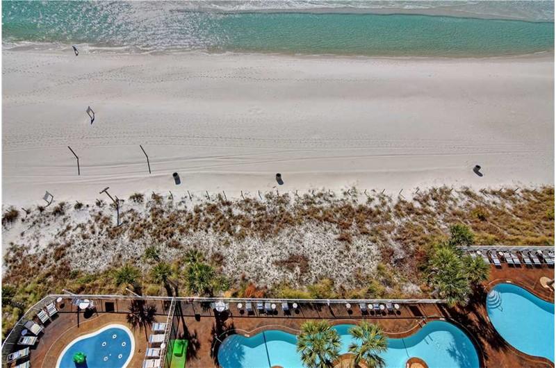 Lovely pool areas at Splash! in Panama City Beach Florida