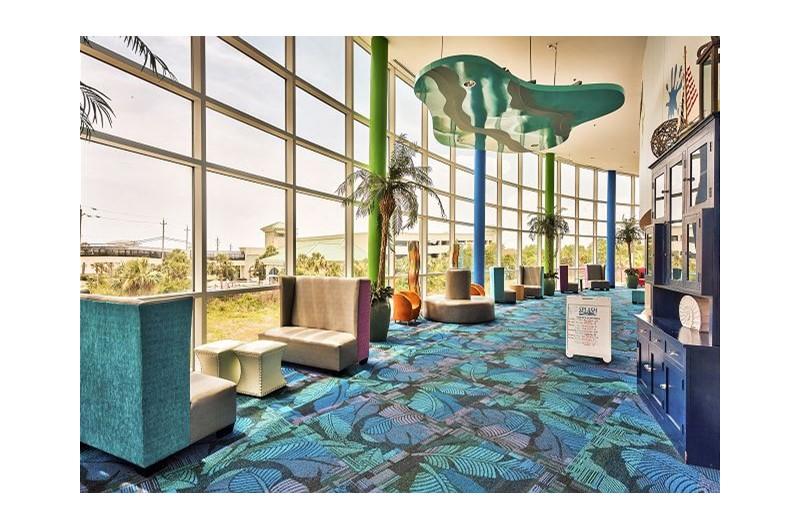Lovely lobby area at SPLASH! in Panama City Beach Florida