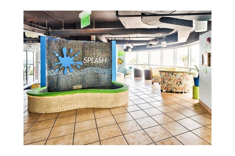 Relax in the lobby at SPLASH! in Panama City Beach Florida