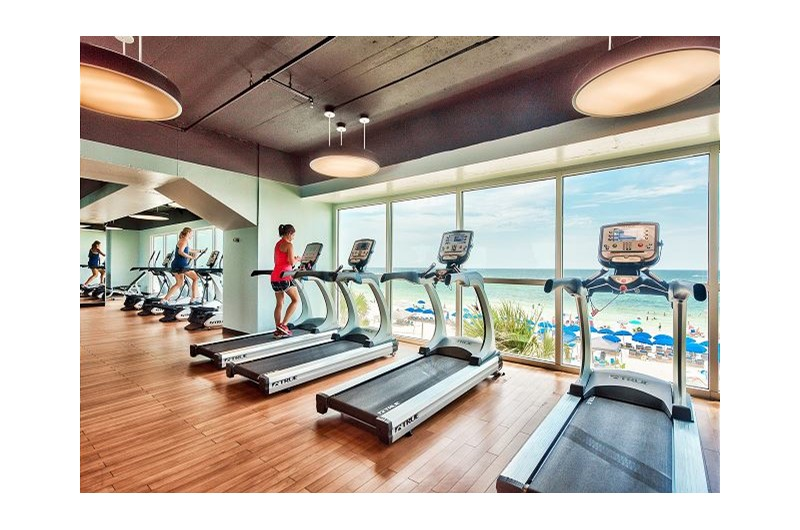 Get your workout in the gym at SPLASH! in Panama City Beach Florida