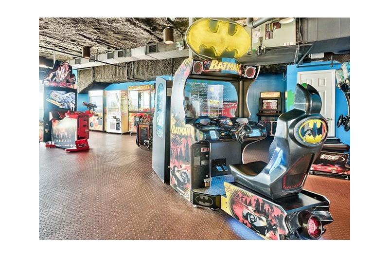 Indoor activities in the arcade at SPLASH! in Panama City Beach Florida