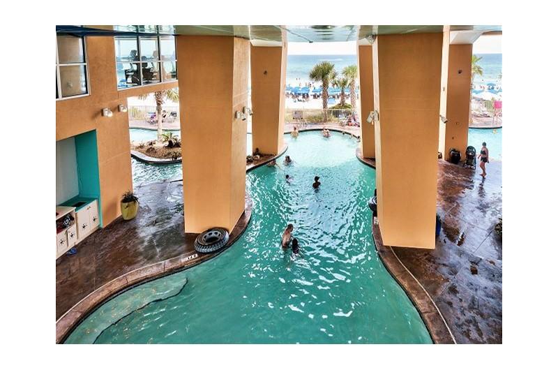 Nice cool indoor pool at SPLASH! in Panama City Beach Florida