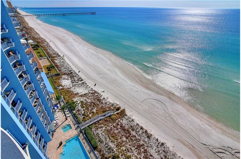 Big views from your balcony at Sterling Breeze in Panama City Beach Florida