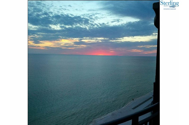 Amazing sunsets from your balcony at Sterling Breeze in Panama City Beach Florida