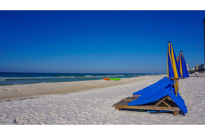 Take a walk down the beach from Sterling Breeze in Panama City Beach Florida