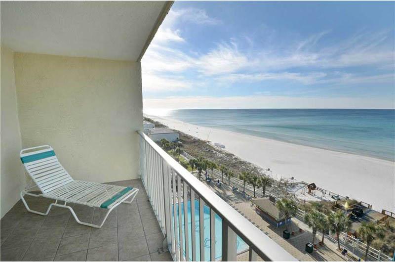 Amazing view from the balcony at Summit Beach Resort in Panama City Beach Florida