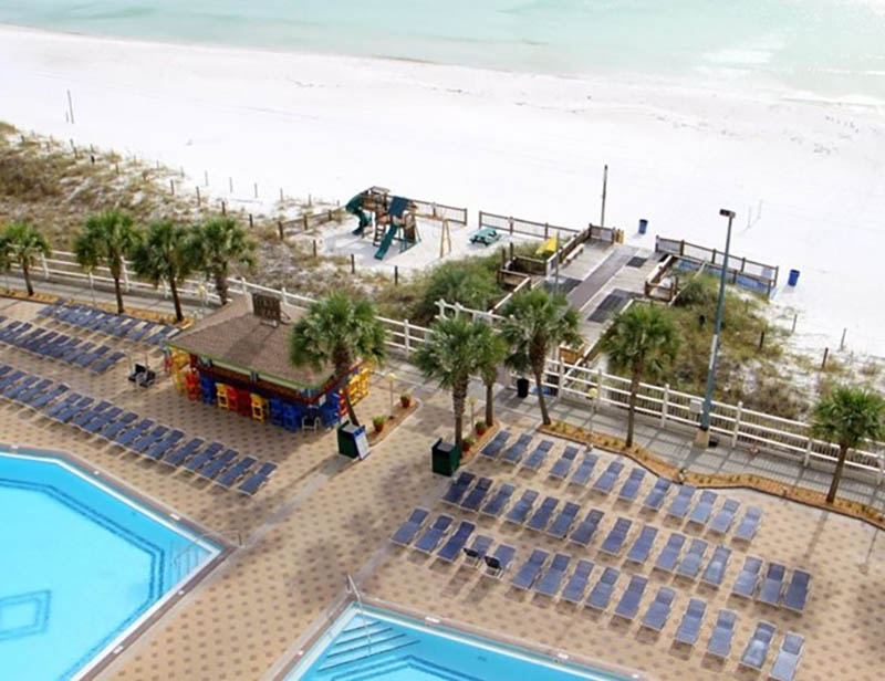 Easy access to the beach from Summit Beach Resort in Panama City Beach Florida