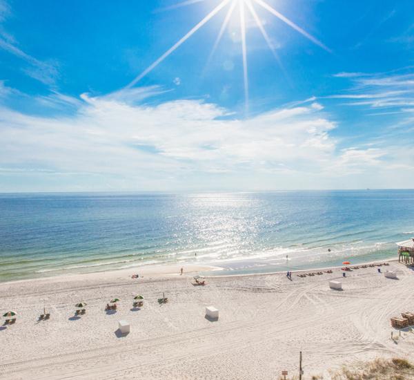 Fantastic view from Sunbird Beach Resort in Panama City Beach Florida
