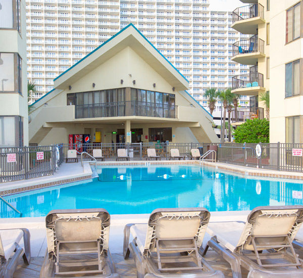 There is plenty of room in the pool at Sunbird Beach Resort in Panama City Beach Florida