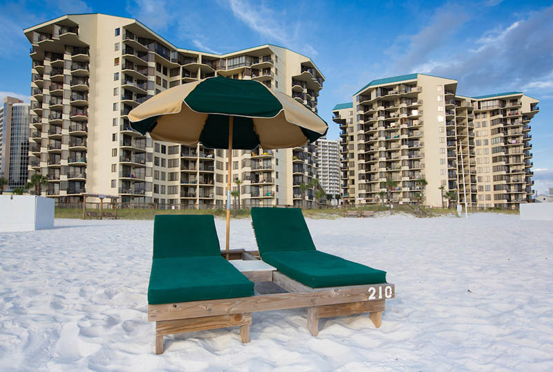 Walk right out of your unit and on to the sand at Sunbird Beach Resort in Panama City Beach Florida