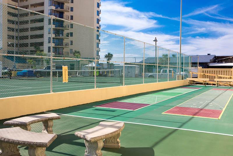 Tennis is available at Sunbird Beach Resort in Panama City Beach Florida