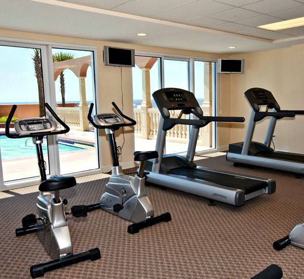 Enjoy the fitness center at Sunrise Beach Condominiums  in Panama City Beach Florida