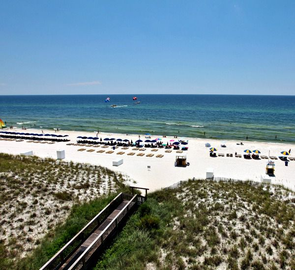 Lovely view of the Gulf from Sunrise Beach Condominiums   in Panama City Beach Florida
