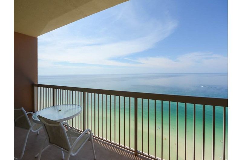 Nice view from the balcony at Sunrise Beach Condominiums  in Panama City Beach Florida