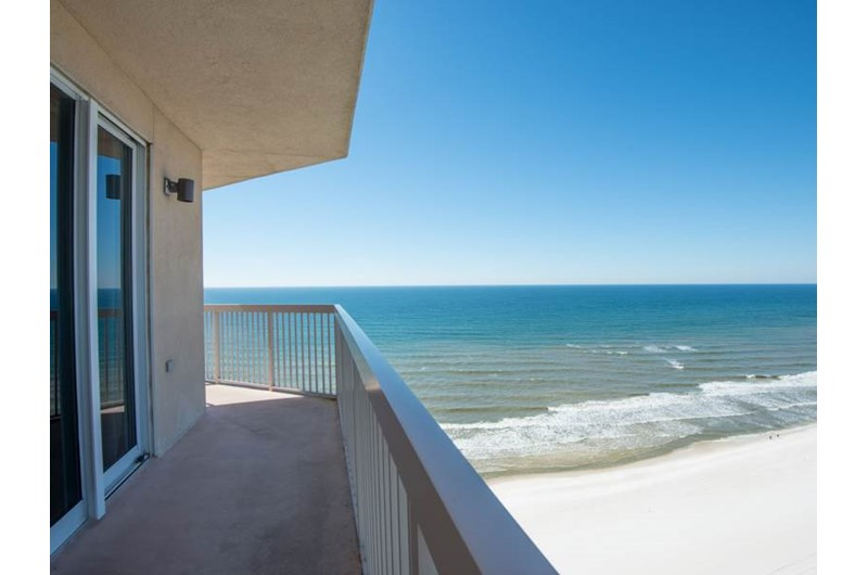 Wonderful view from the corner unit at Sunrise Beach Condominiums  in Panama City Beach Florida